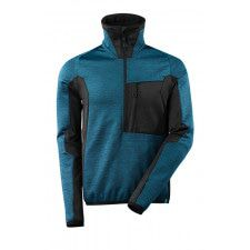 Fleece Jumper with half zip, modern fit