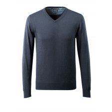 Knitted Jumper v-neck, with merino wool