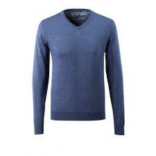 Knitted Jumper V-Neck, mat Merino Woll