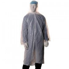 Visitors coat polyethylene 18 mu