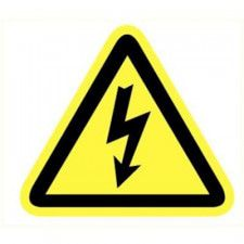 Dangerous electrical voltage sticker length side 90 mm