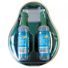M-Safe wall holder including 2 M-Safe eye wash bottles 500 ml