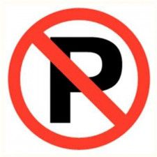 Parking prohibited sticker diameter 200 mm