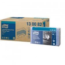 Tork Industrial Heavy-Duty Paper Folded Blue Polieregutt
