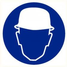 Safety helmet compulsory plate diameter 200 mm