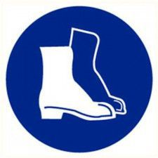 Safety shoes required sticker diameter 90 mm