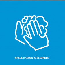 Sticker - Wash your hands for 20 seconds (available in 20, 30 and 50 cm)